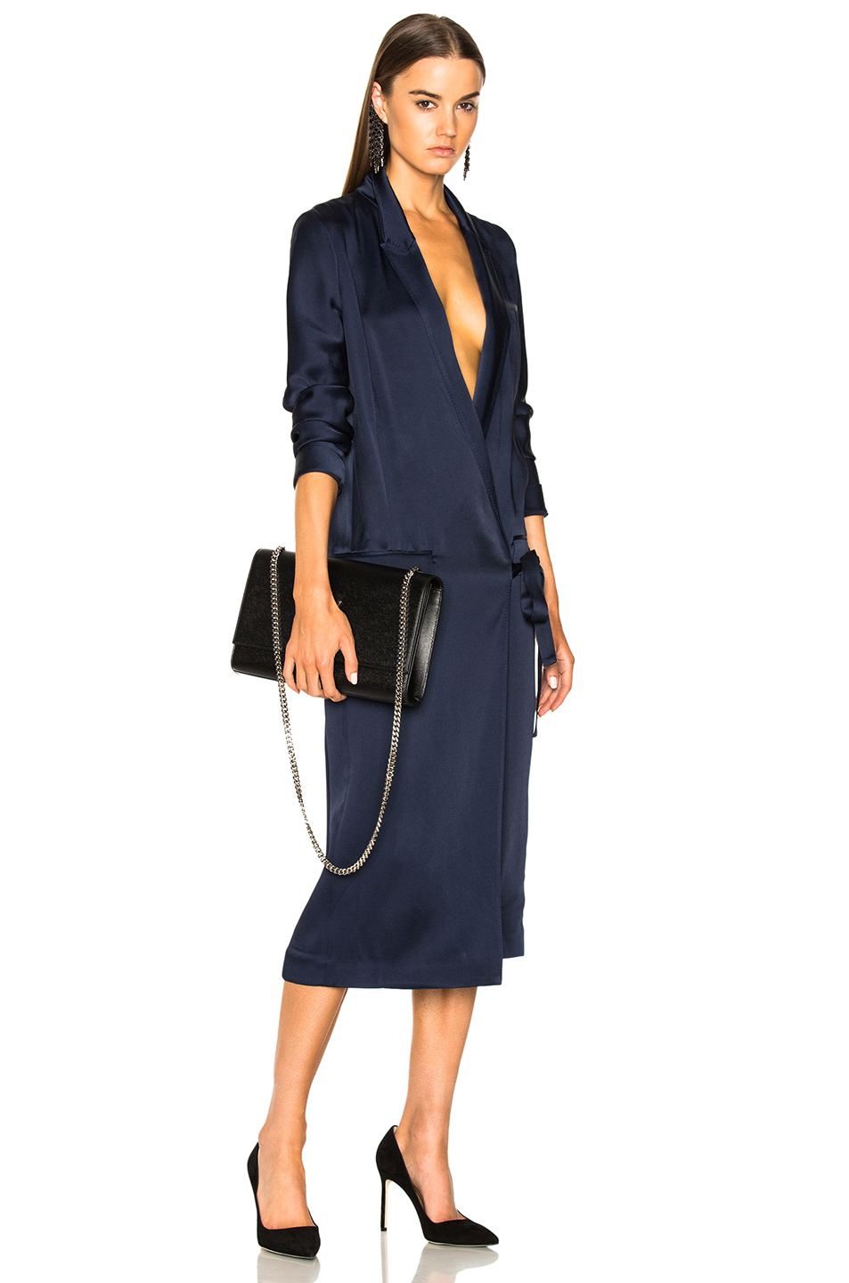 Haider Ackermann Wrap Dress in Blue