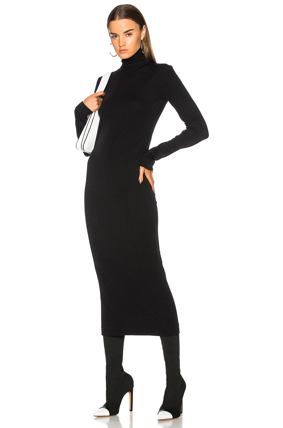 Haider Ackermann Turtleneck Sweater Dress in Black
