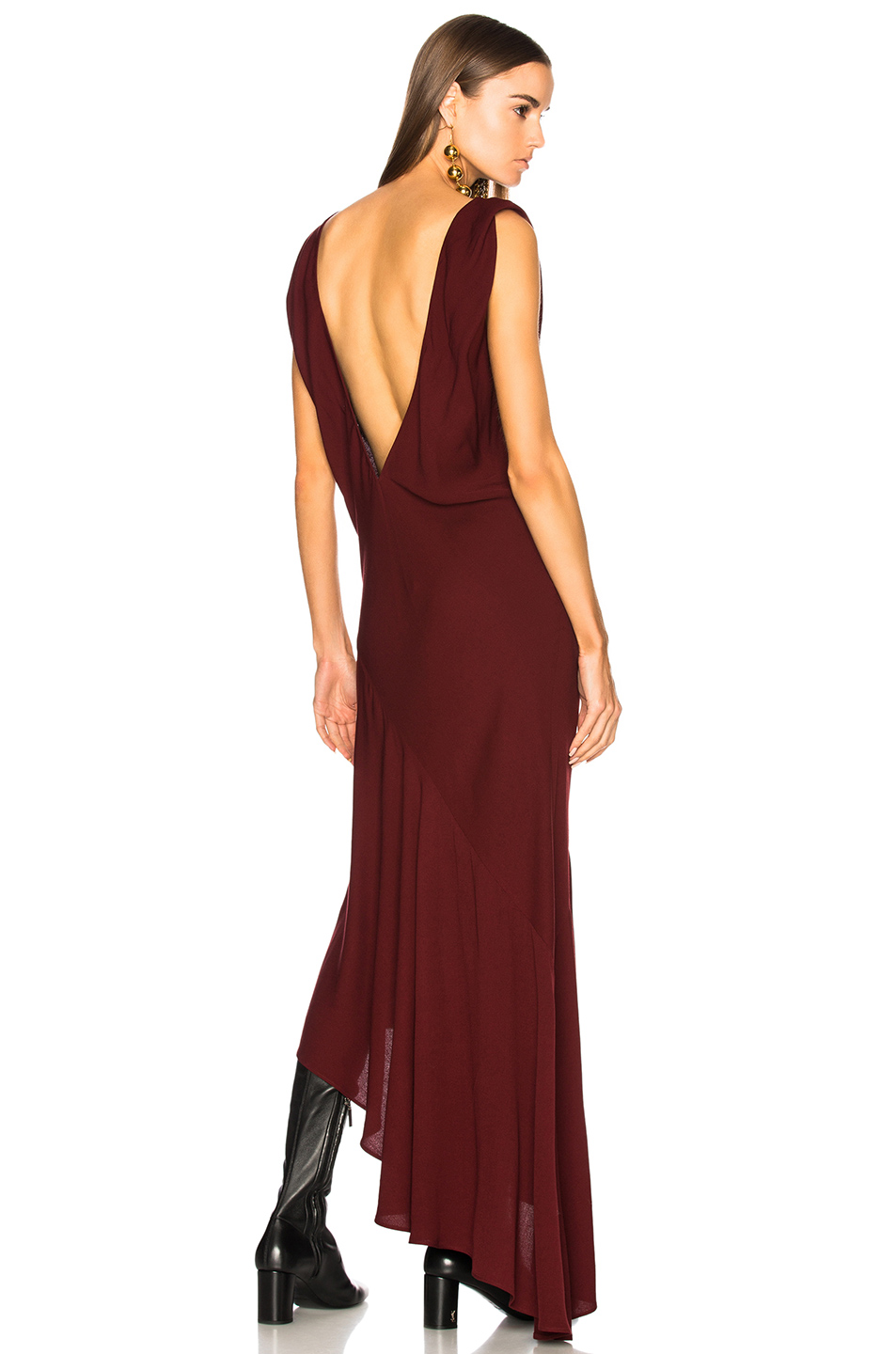 Haider Ackermann V-Neck Sleeveless Dress in Red