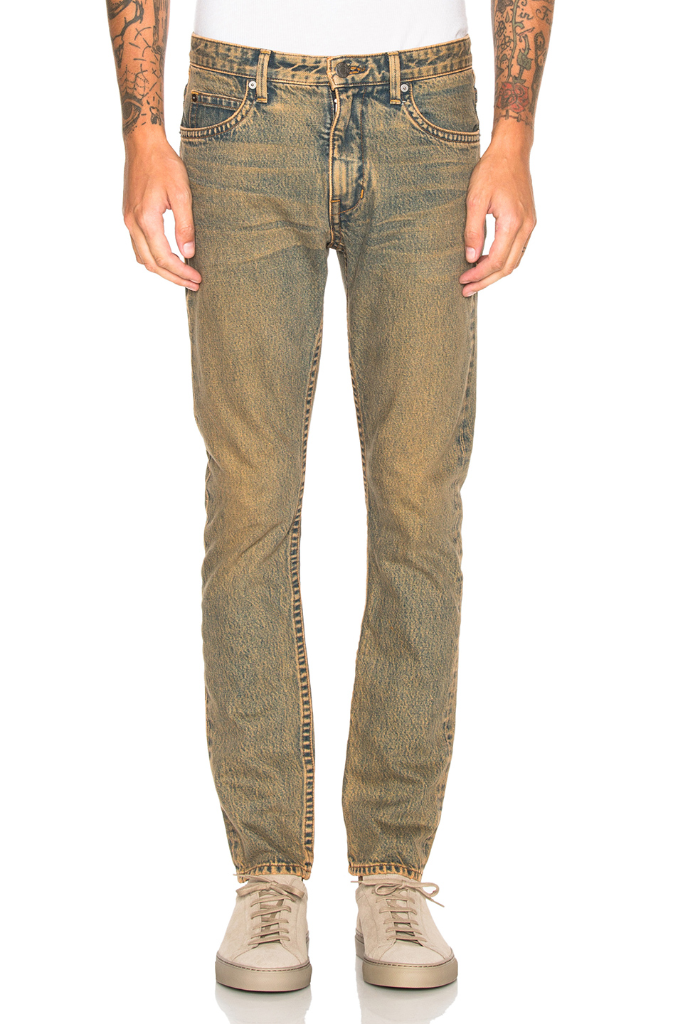 Helmut Lang Mr 87 Jeans in Blue,Orange