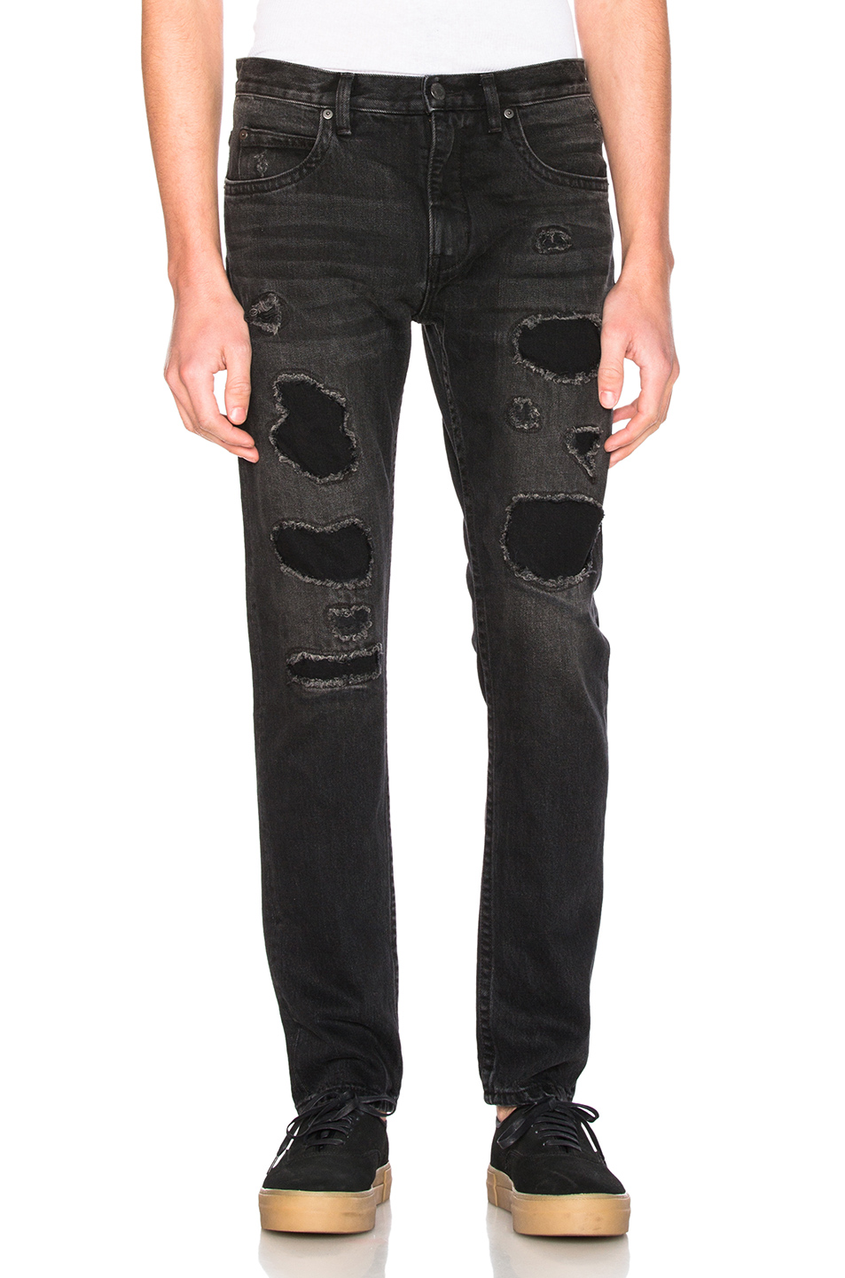 Helmut Lang MR87 Destroy Jeans in Black