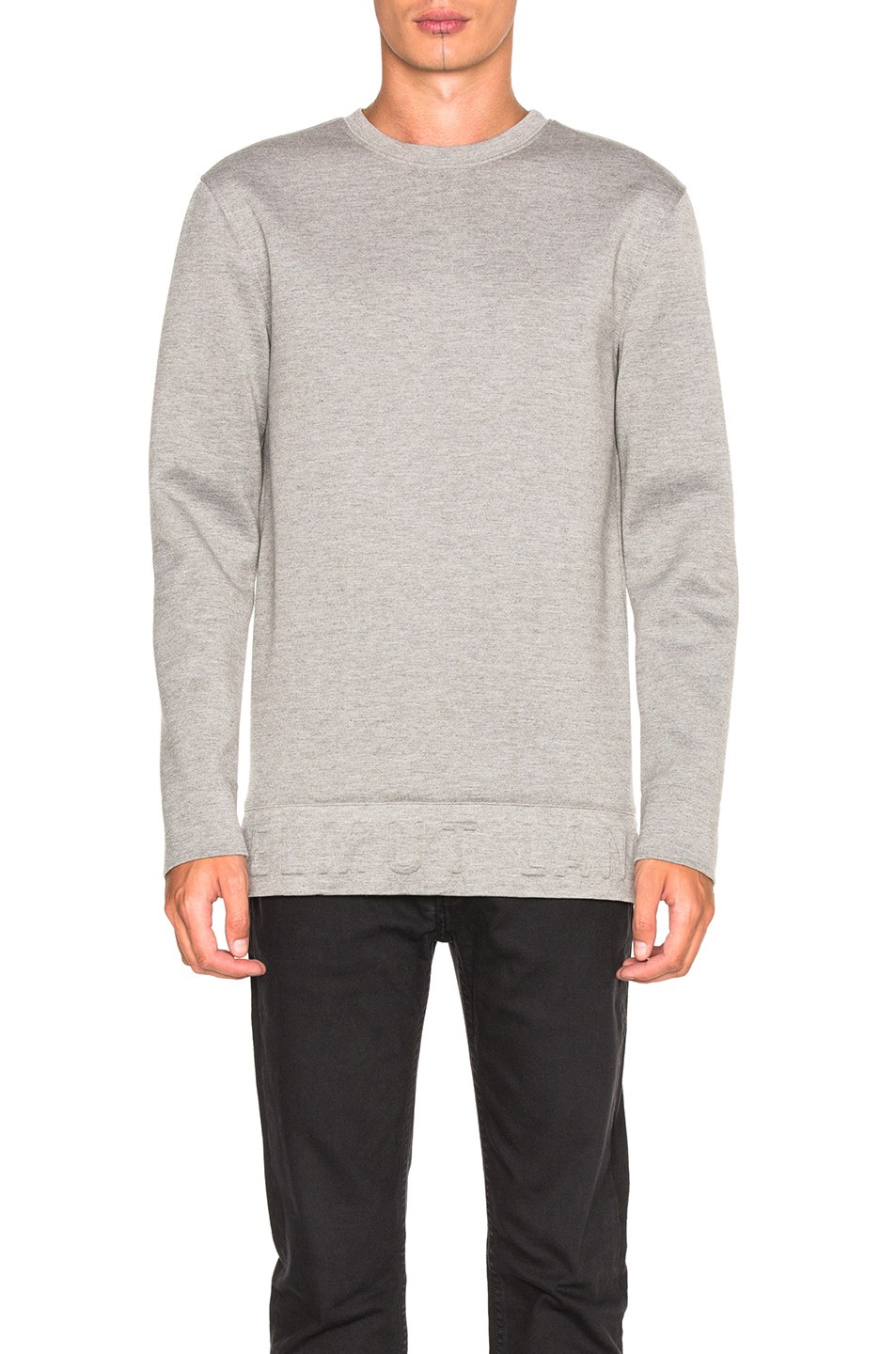 Helmut Lang Neoprene 3D Sweatshirt in Gray