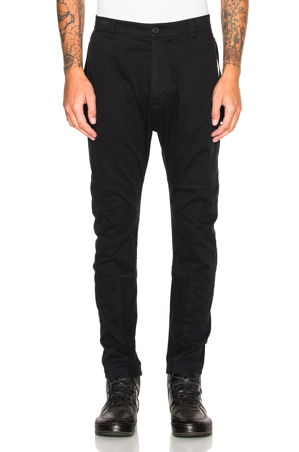 Helmut Lang Back Strap Trousers in Black