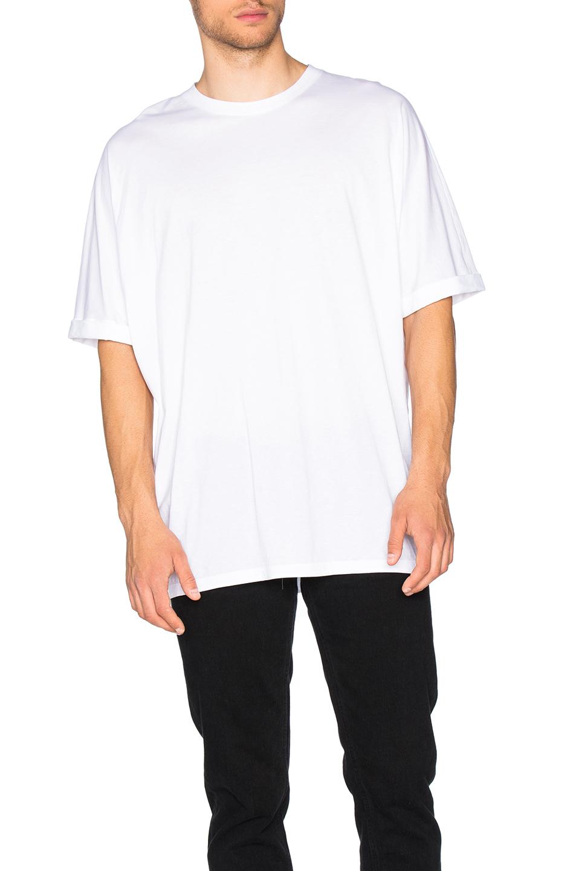 Helmut Lang Whisper Jersey Oversize Tee in White