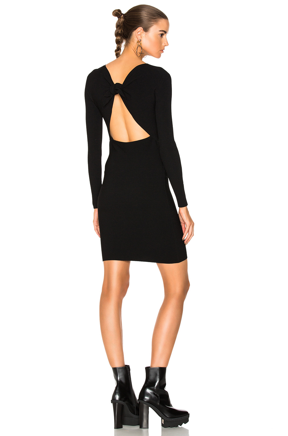 Helmut Lang Tie Back Dress in Black