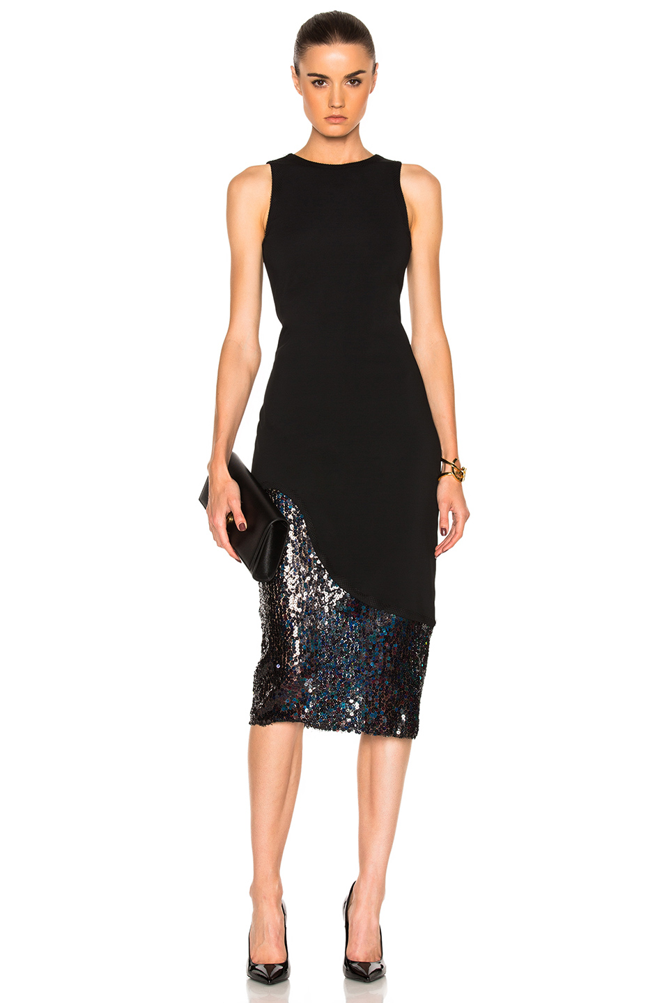 HANEY for FWRD Natasha Dress in Black