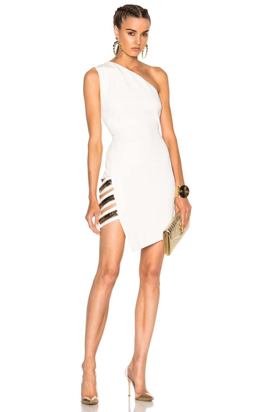 HANEY for FWRD Georgia Dress in White