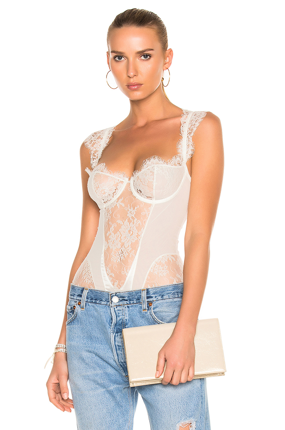 I.D. SARRIERI Bodysuit in White