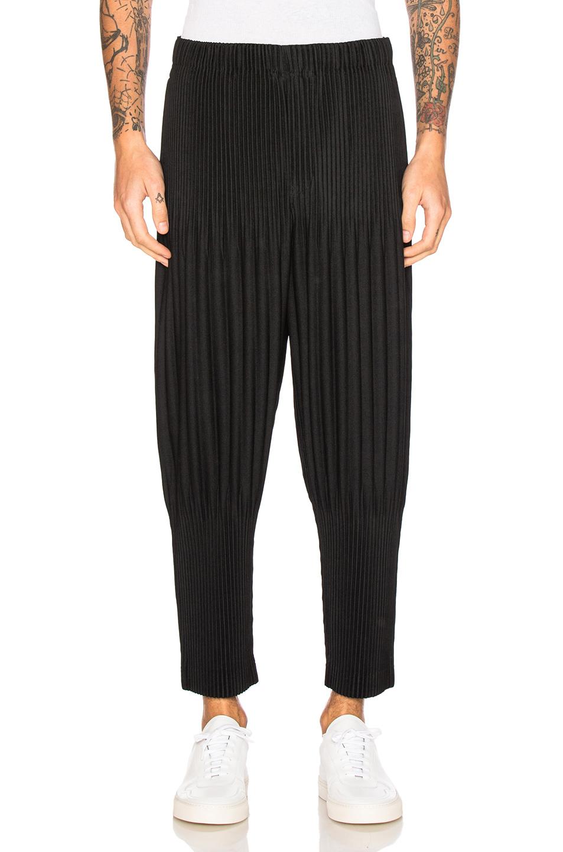 Photo of Issey Miyake Homme Plisse Basic Long Pants in Black - shop Issey Miyake Homme Plisse menswear