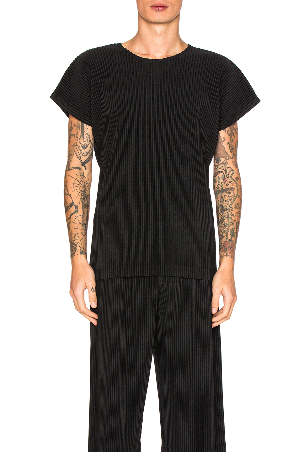 Issey Miyake Homme Plisse Tunic in Black