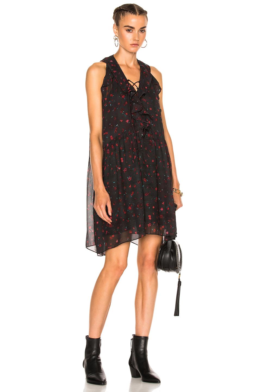 IRO Jaysan Dress in Black,Floral