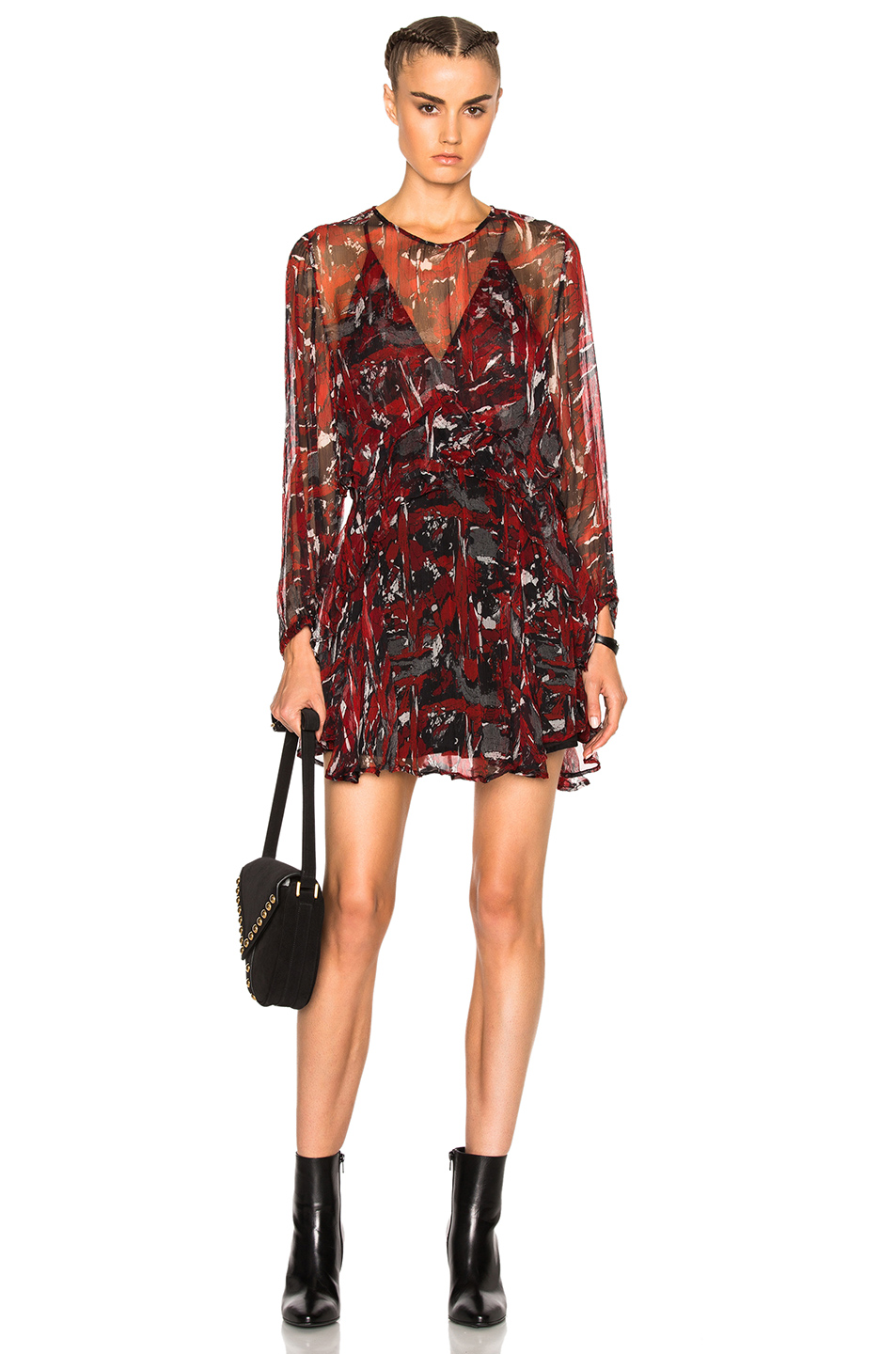 IRO Ressey Dress in Red,Abstract