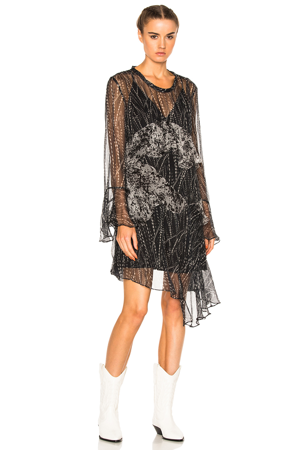 IRO Gypsy Dress in Abstract,Black,White