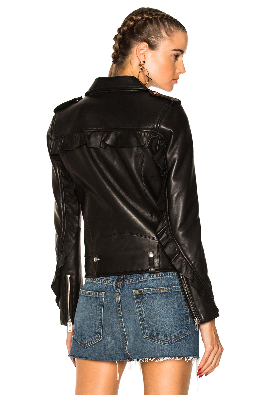 IRO Dumont Leather Jacket in Black