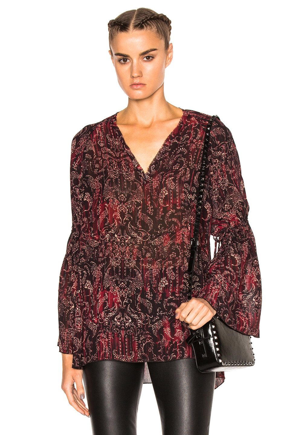 IRO Aga Top in Red,Purple,Abstract