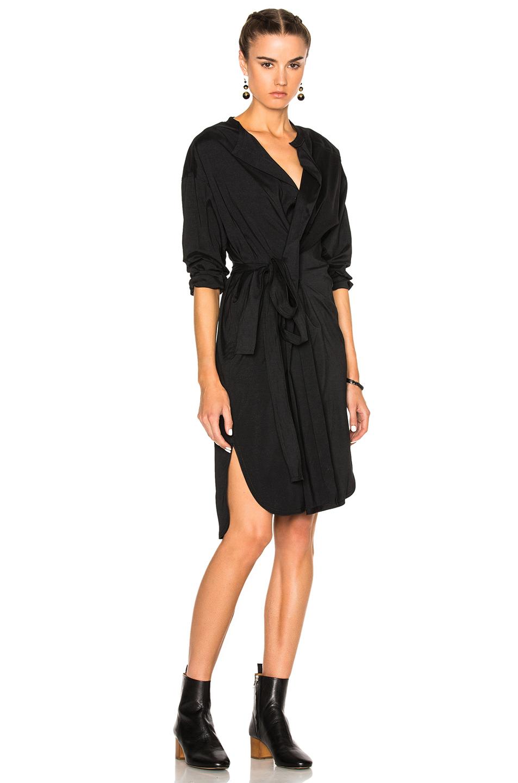 Isabel Marant Dias Silk Dress in Black