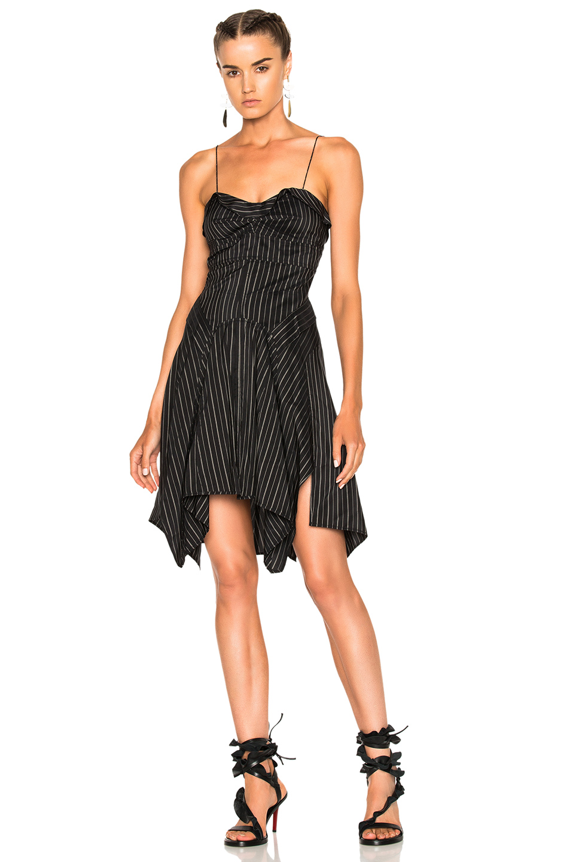 Isabel Marant Shaper Dress in Black,Stripes