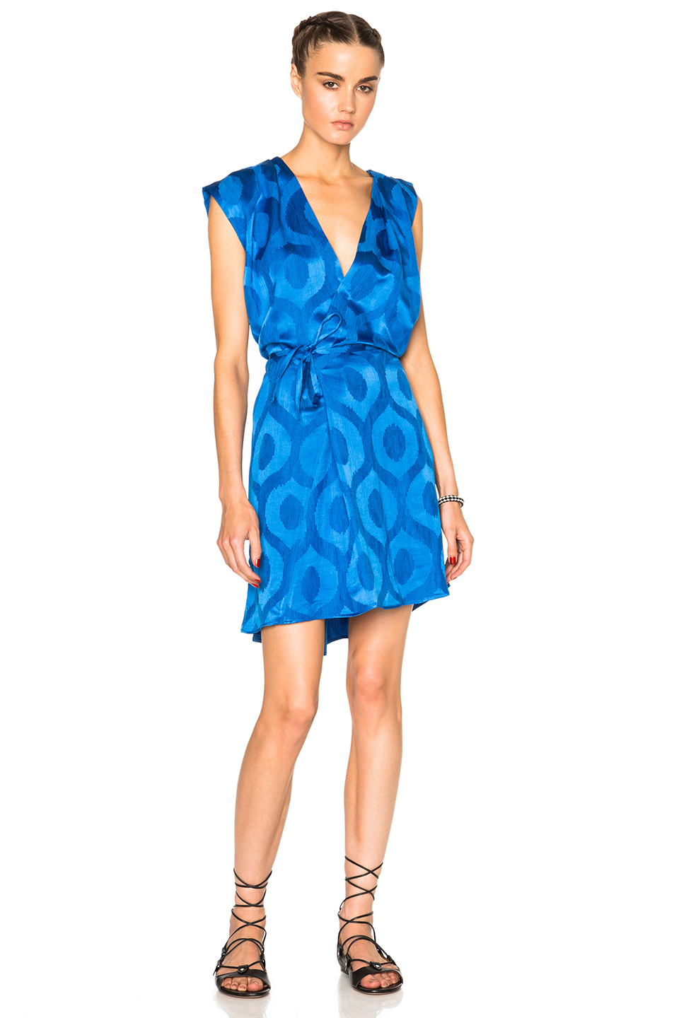 Isabel Marant Sudley New Moire Dress in Blue