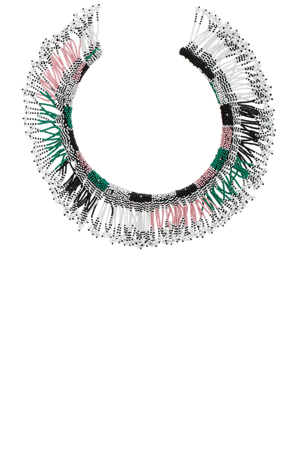 Isabel Marant Tassel Necklace in White,Blue,Green