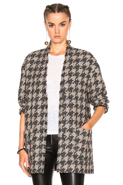Isabel Marant Jameson Tweed Jacket in Gray,Checkered & Plaid