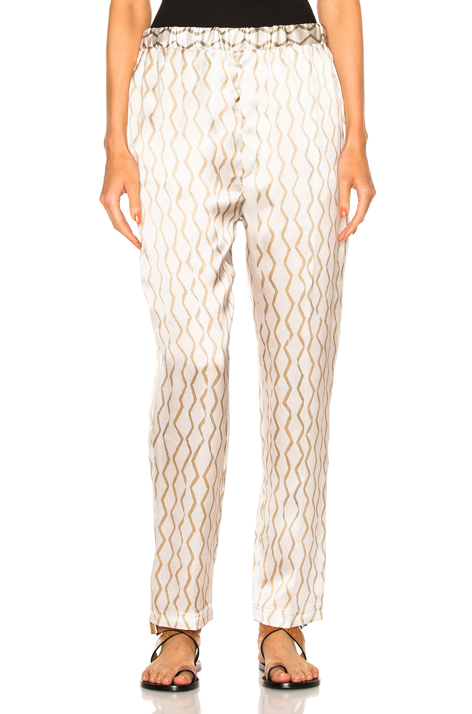 Isabel Marant Sonia Pants in Abstract,Metallics,Neutrals
