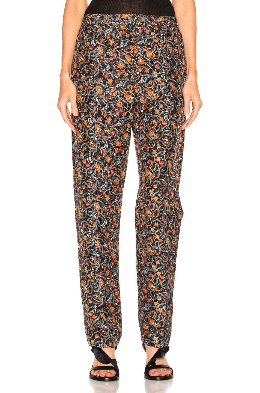 Isabel Marant Roya Pants in Floral,Green
