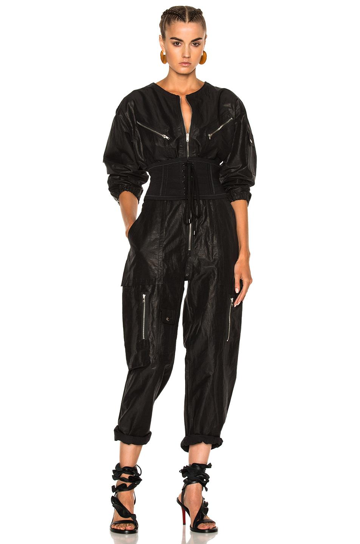 Isabel Marant Laney Flight Suit in Black