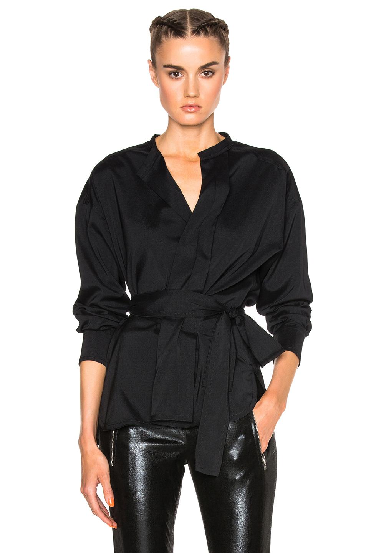 Isabel Marant Dorcey Silk Top in Black