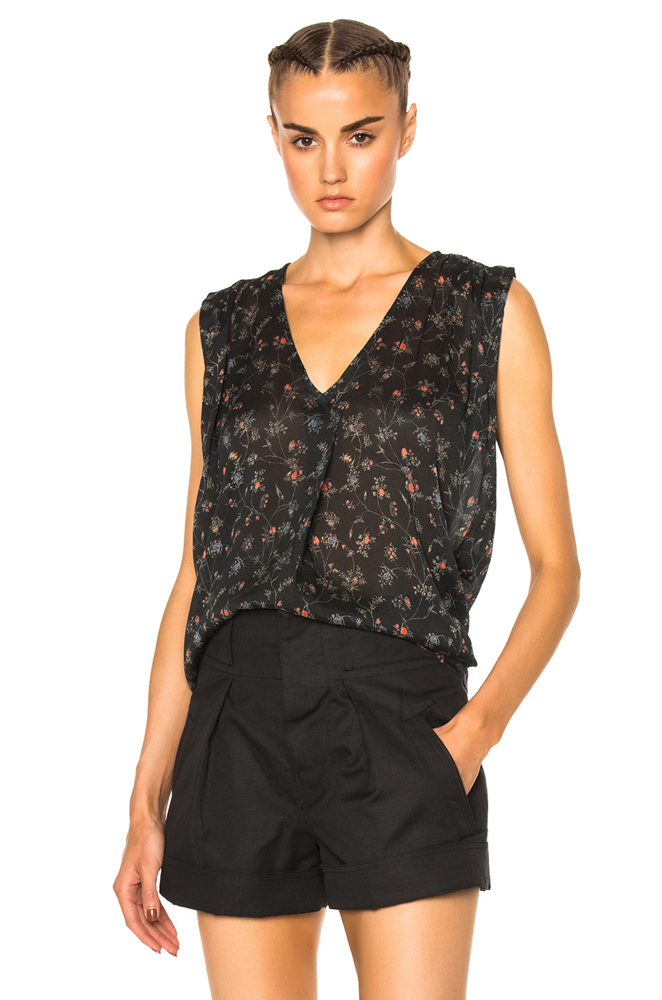 Isabel Marant Torrell Blouse in Floral,Green