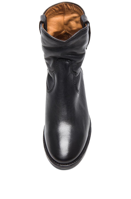 isabel marant cluster leather boots in black fwrd. Black Bedroom Furniture Sets. Home Design Ideas