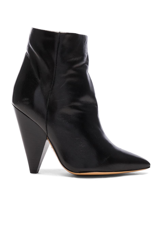 Isabel Marant Leather Leydoni Booties in Black