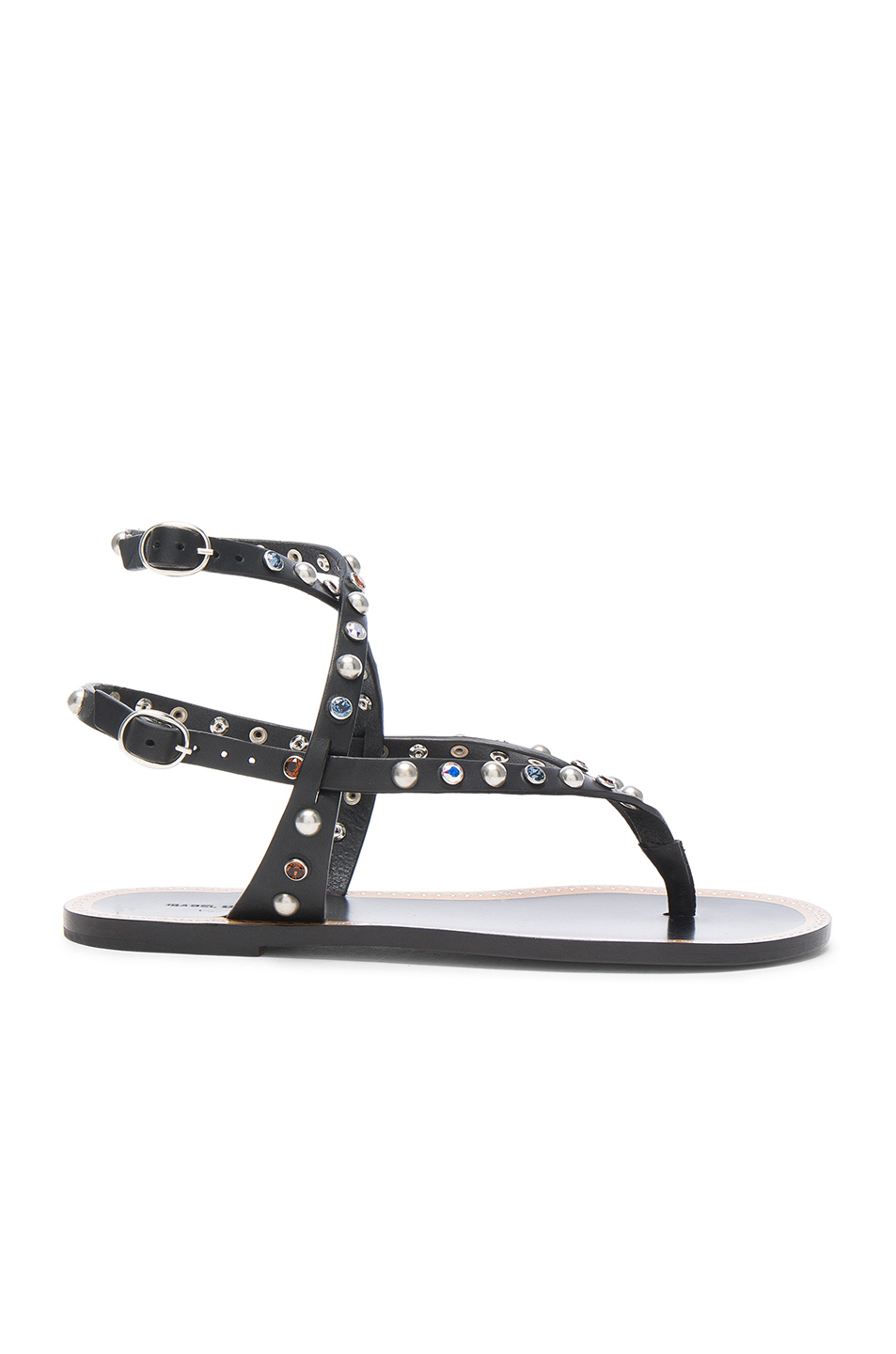 Isabel Marant Leather Audrio Sandals in Black