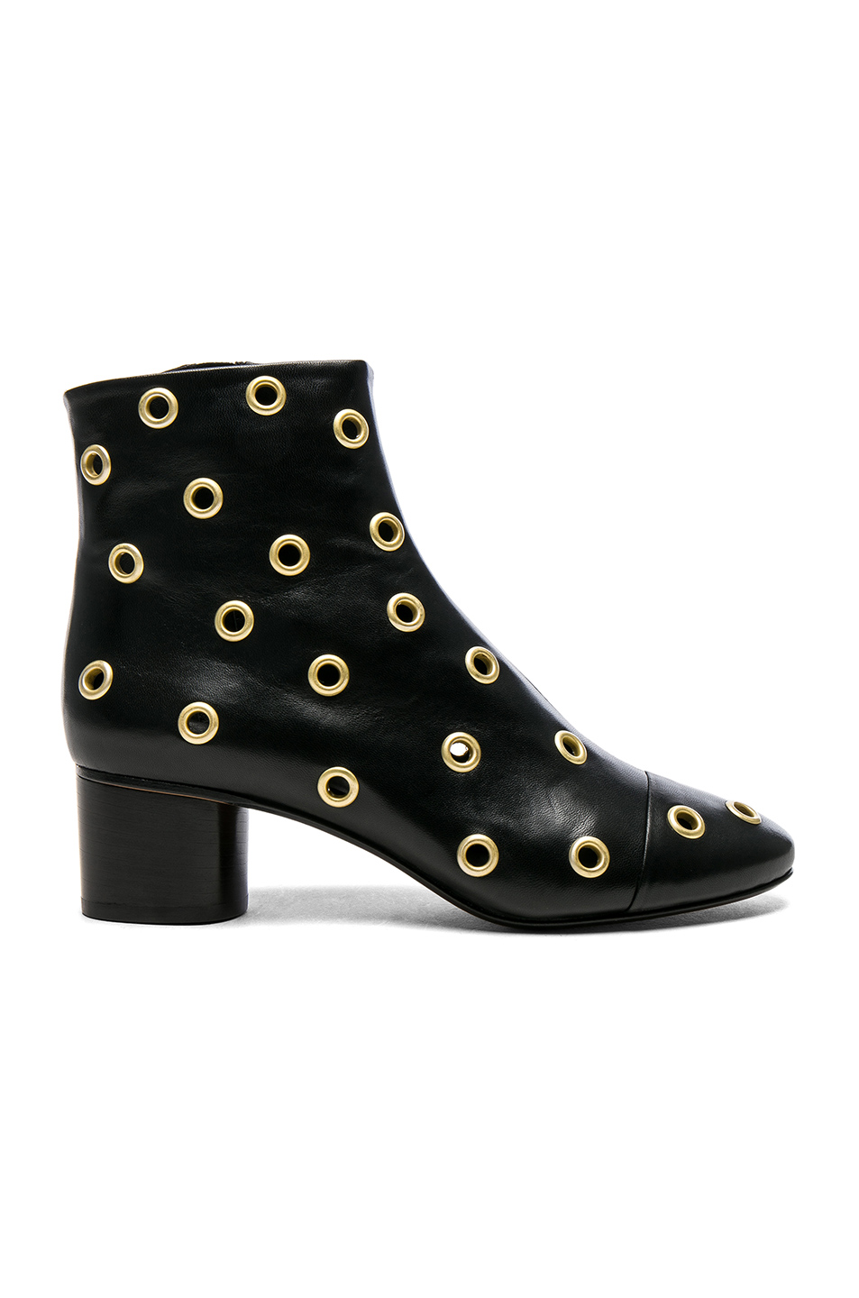 Isabel Marant Eyelet Leather Danay Ankle Boots in Black