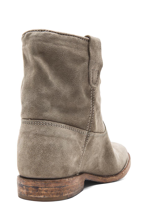 isabel marant crisi calfskin velvet leather boots in taupe fwrd. Black Bedroom Furniture Sets. Home Design Ideas