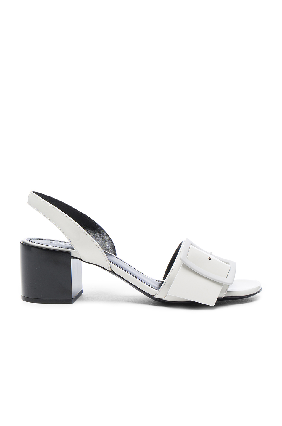 Jil Sander Patent Leather Heels in White