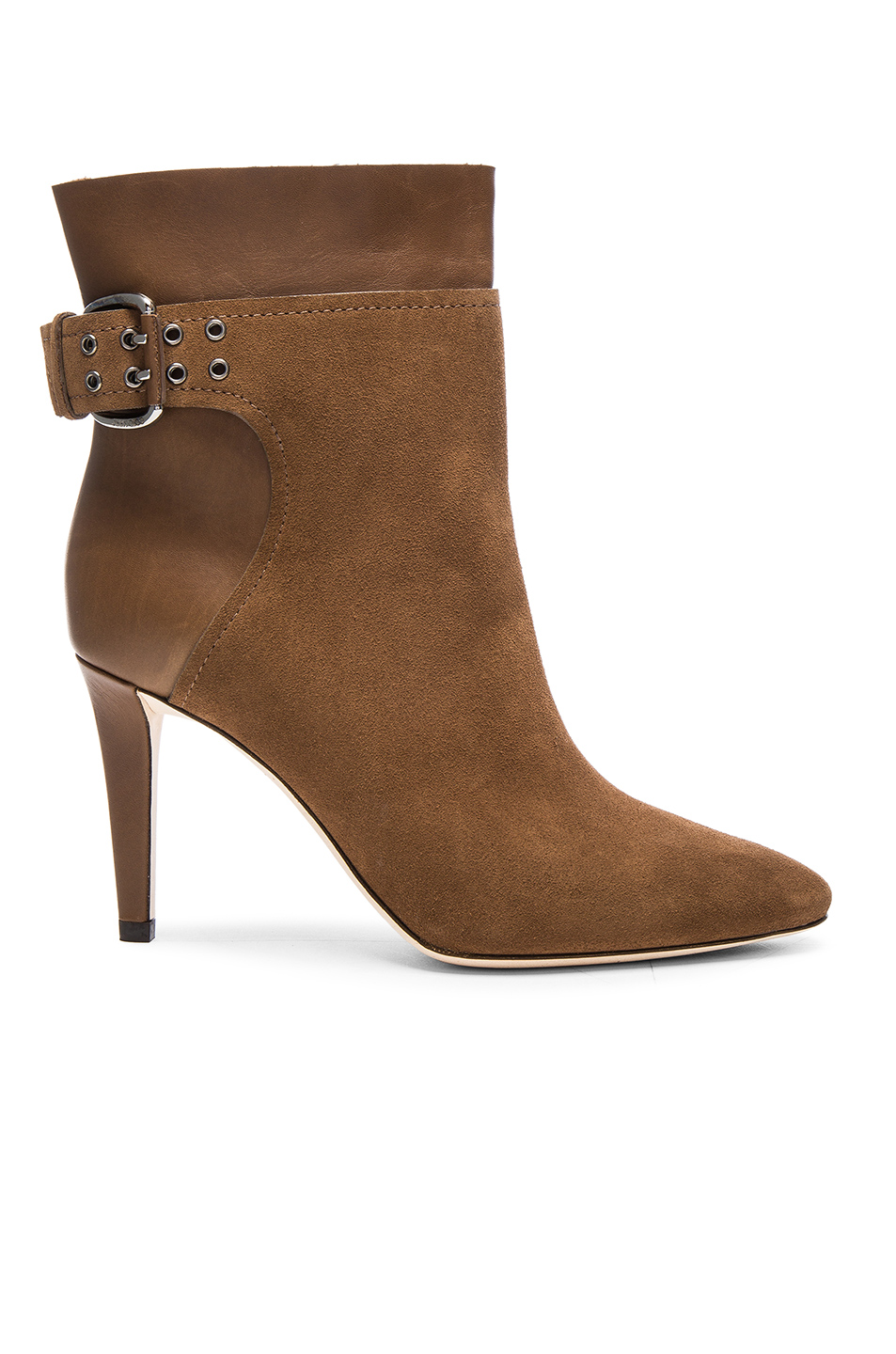 Jimmy Choo Suede Major Booties in Brown