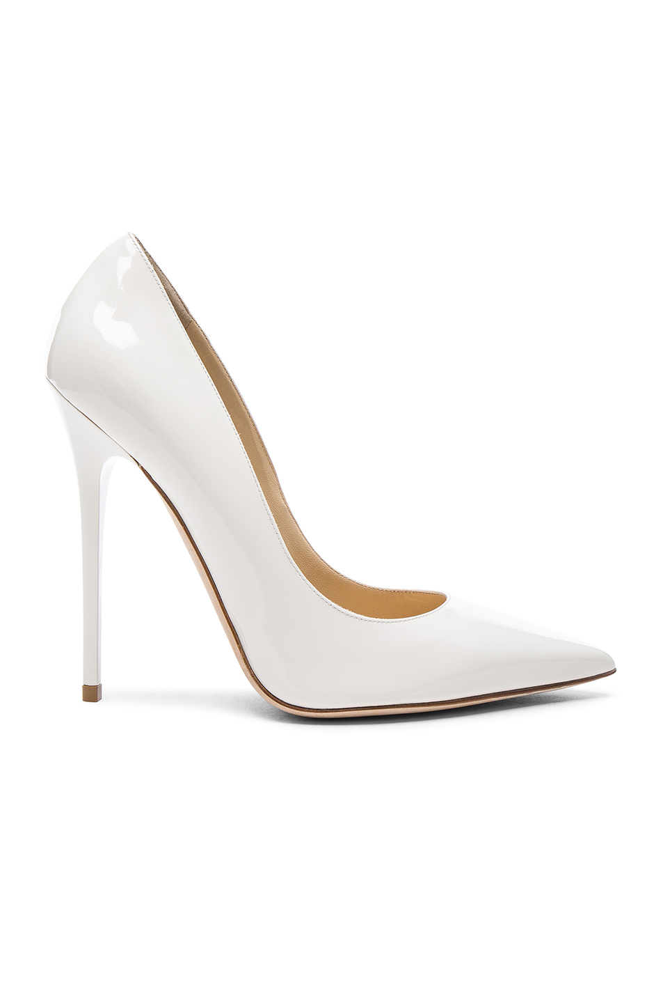 Jimmy Choo Patent Leather Anouk Pumps in White