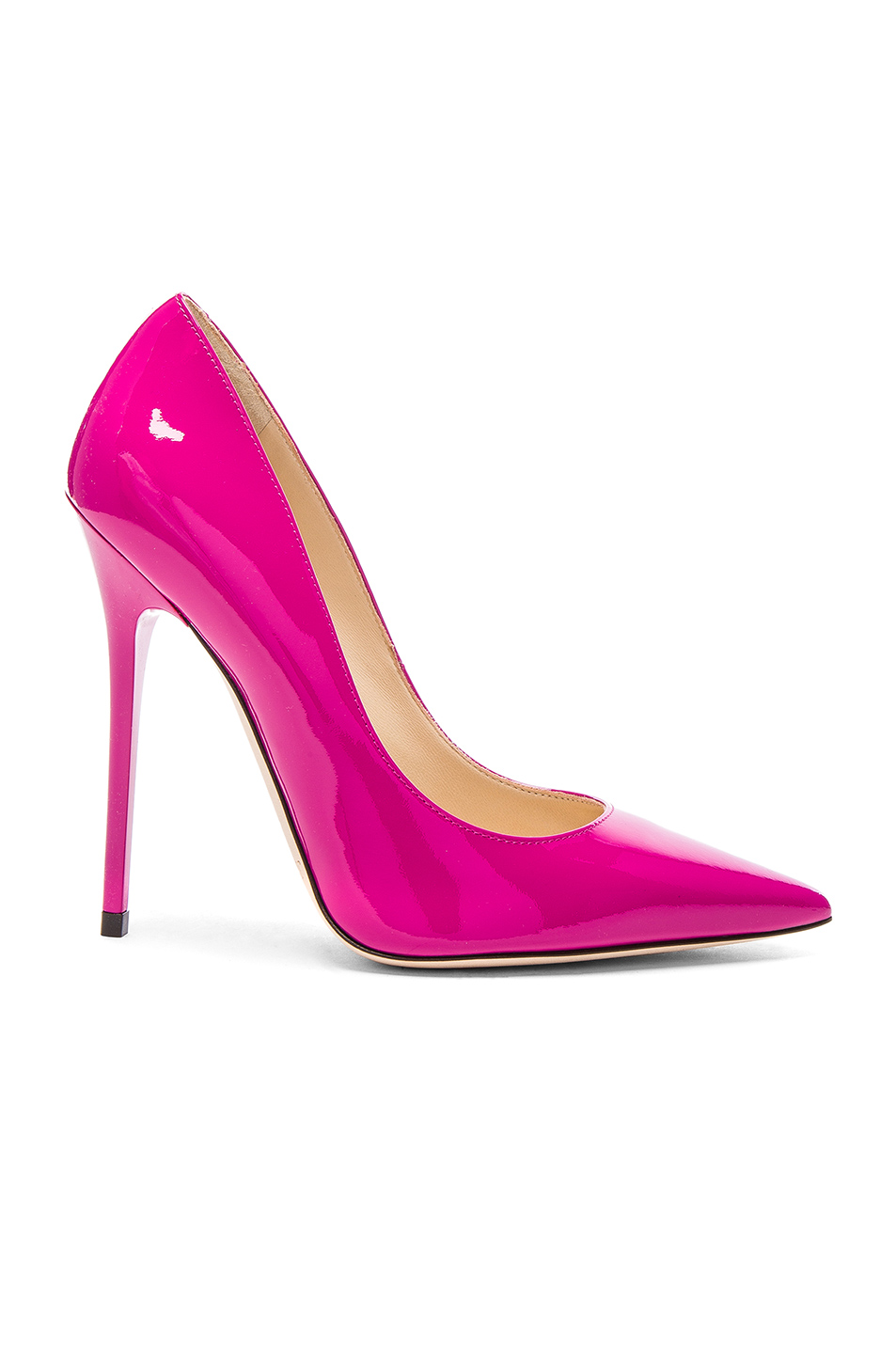 Jimmy Choo Patent Leather Anouk Heels in Pink