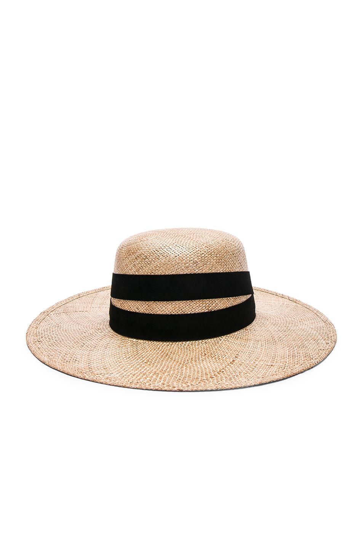 Janessa Leone Six Bolero Hat in Neutrals