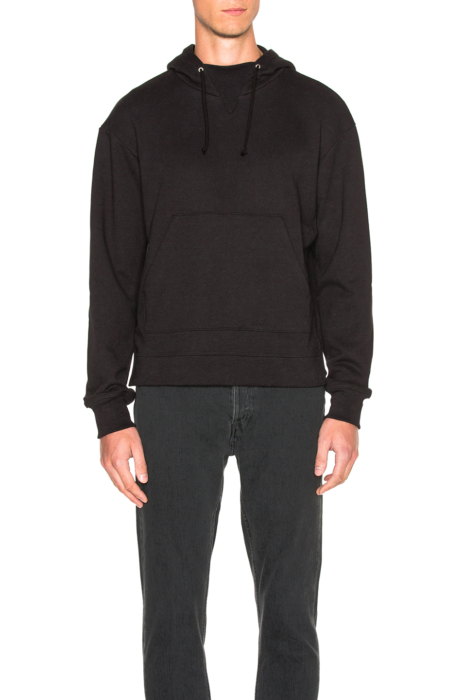 JOHN ELLIOTT Kake Mock Neck Pullover in Black