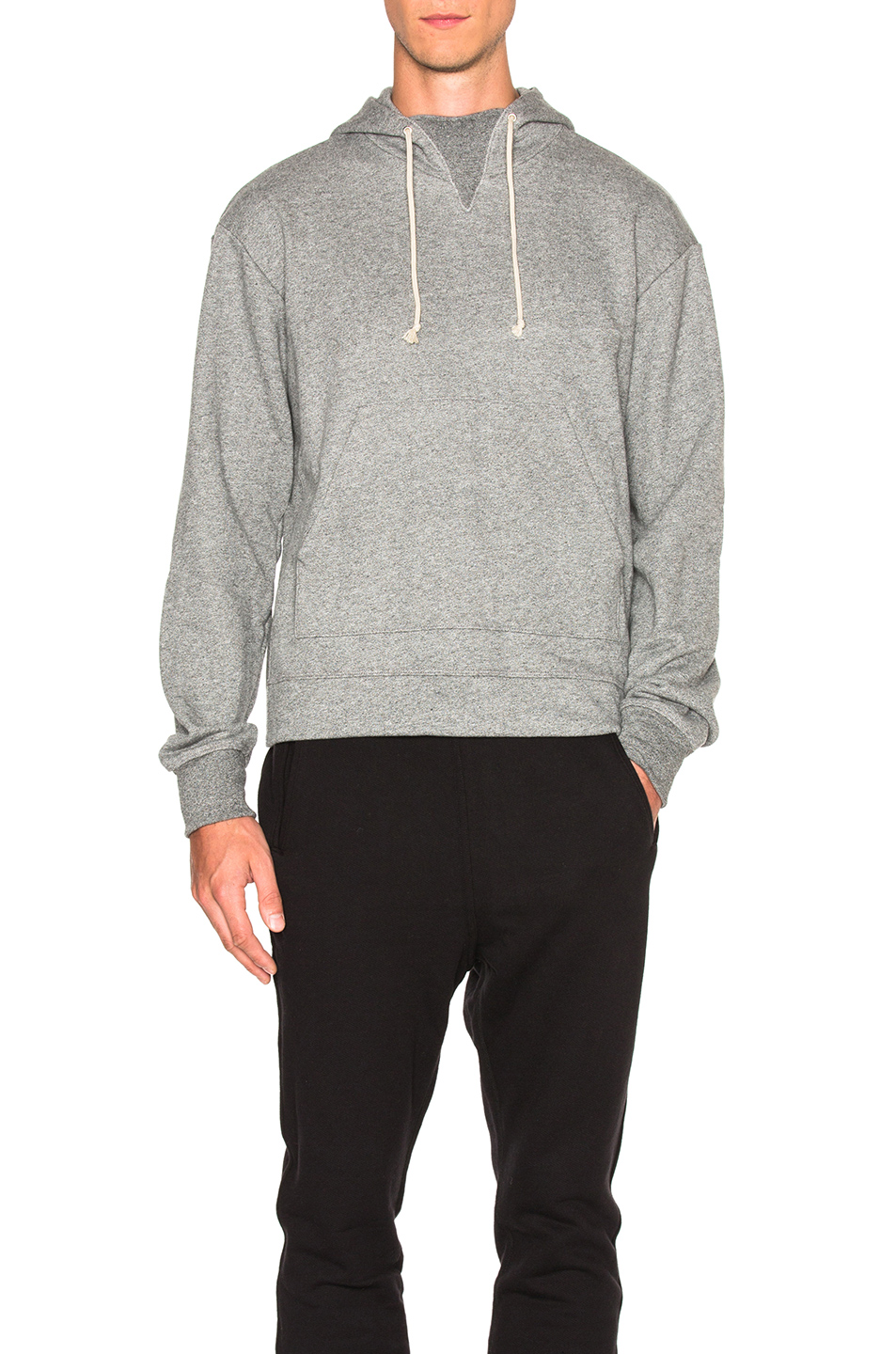 JOHN ELLIOTT Kake Mock Neck Pullover in Gray