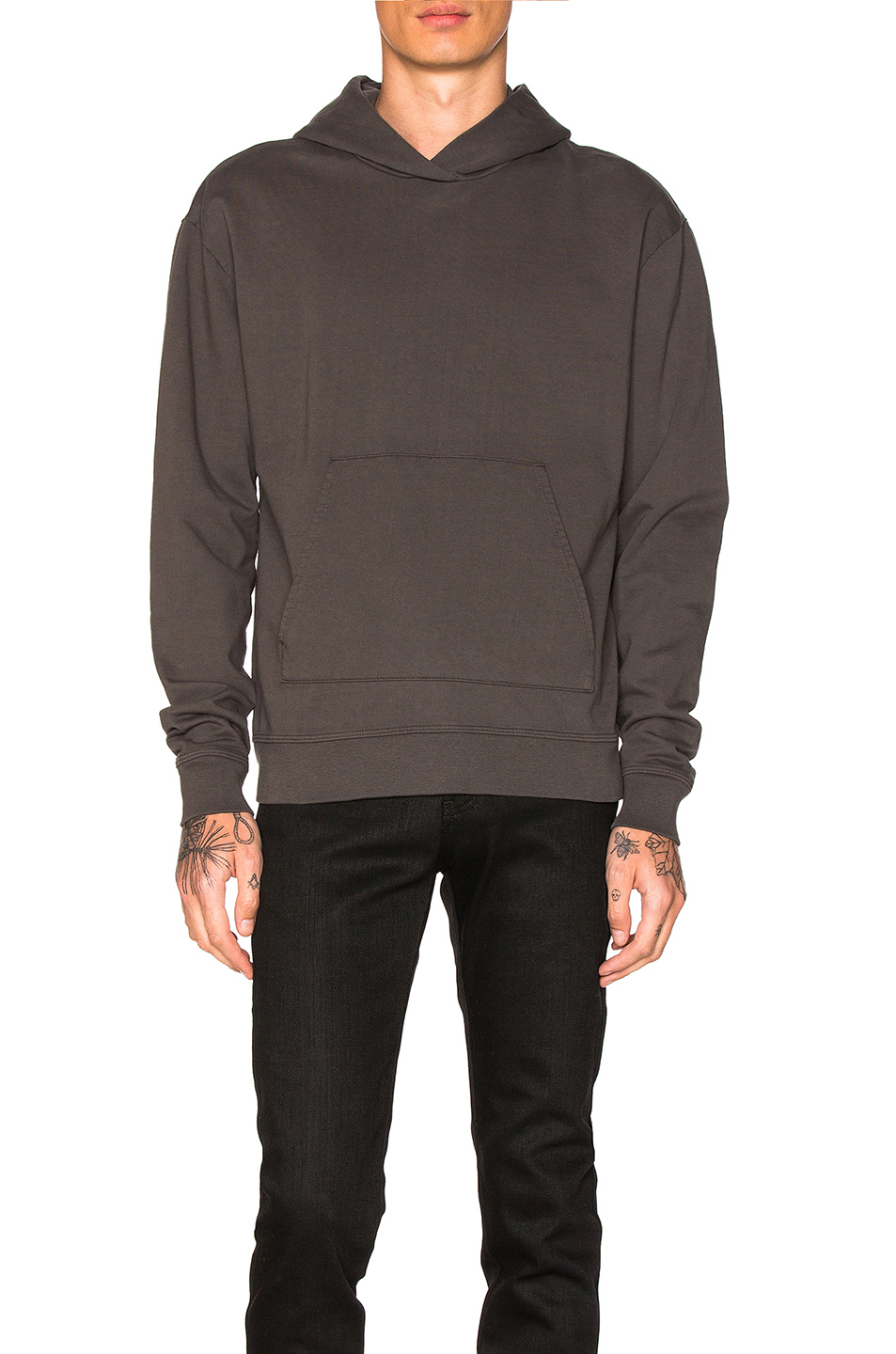 JOHN ELLIOTT Oversized Cropped Hoodie in Gray