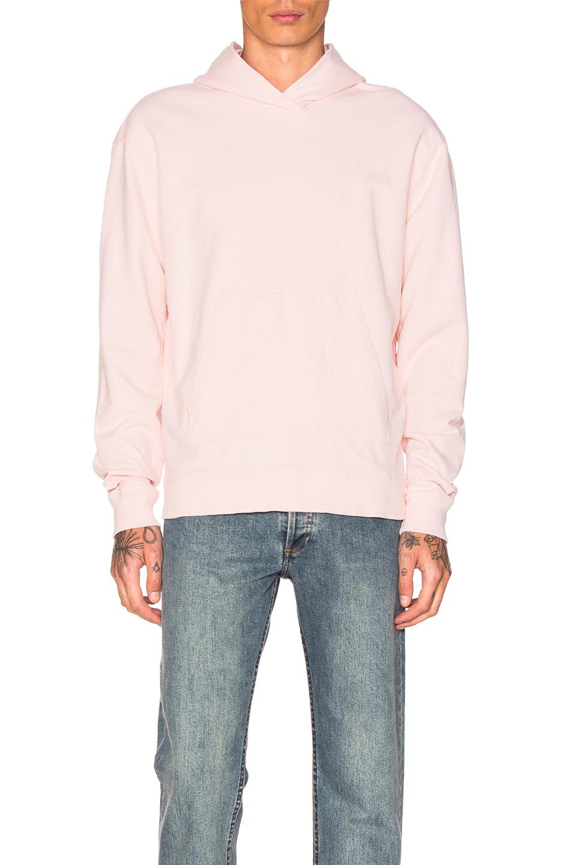 JOHN ELLIOTT Oversized Cropped Hoodie in Pink