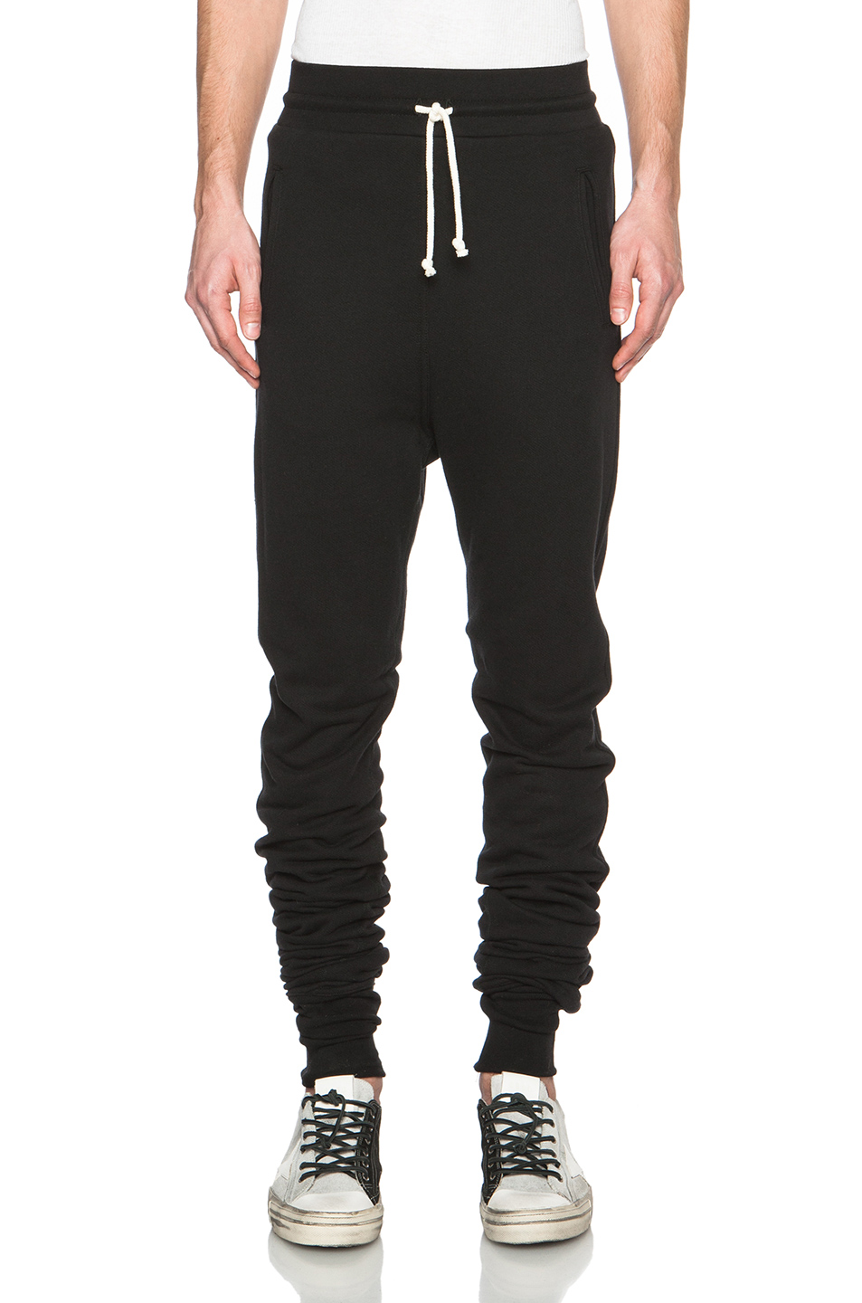 JOHN ELLIOTT Kito Cotton Sweatpants in Black