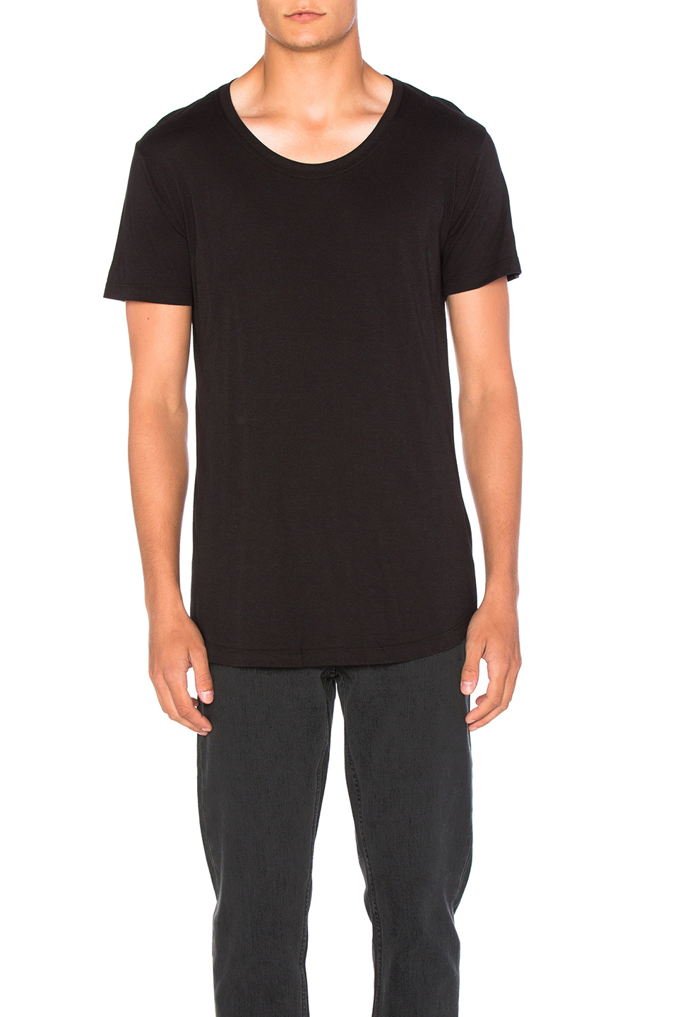 JOHN ELLIOTT Curve U Neck in Black