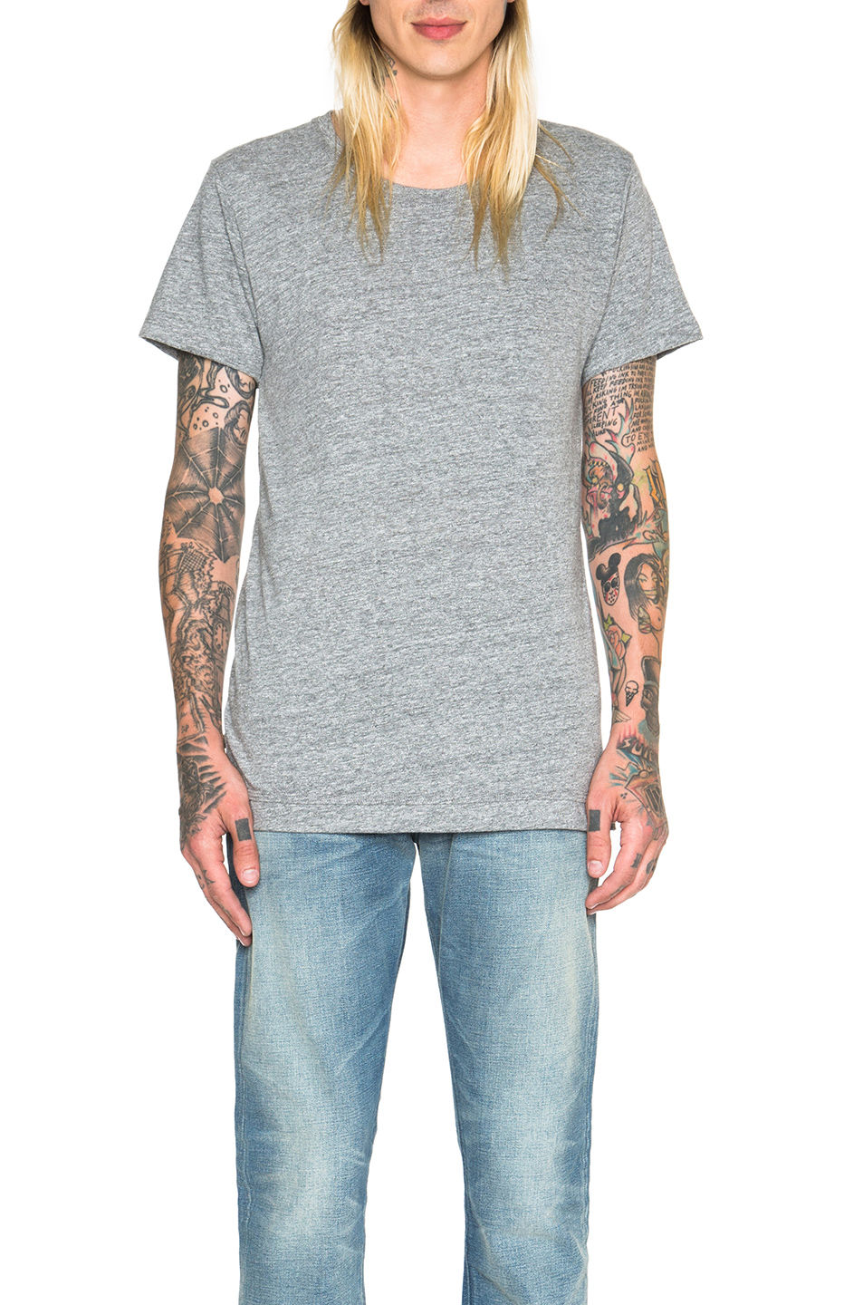 JOHN ELLIOTT Mercer Tee in Gray
