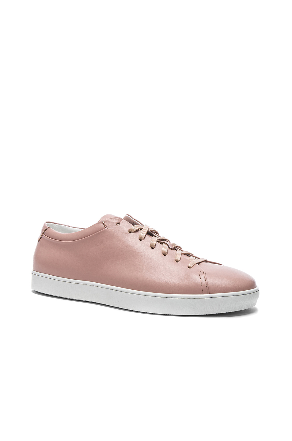 JOHN ELLIOTT Leather Low Tops in Pink