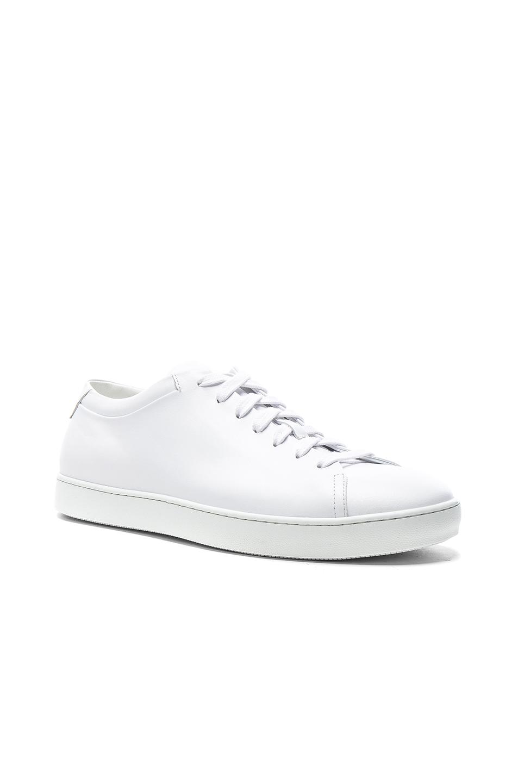 JOHN ELLIOTT Leather Low Tops in White