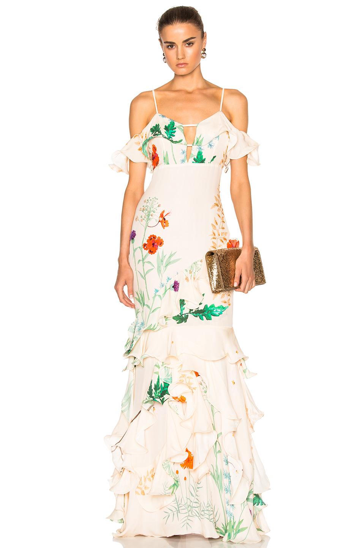Johanna Ortiz La Santa Maria Dress in Neutrals,Floral