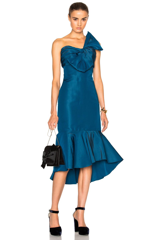 Johanna Ortiz Blue Coral Dress in Blue